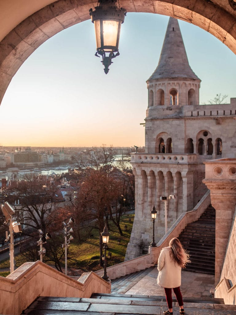 Budapest Instagrammable Places - Sunrise at Fisherman's Bastion