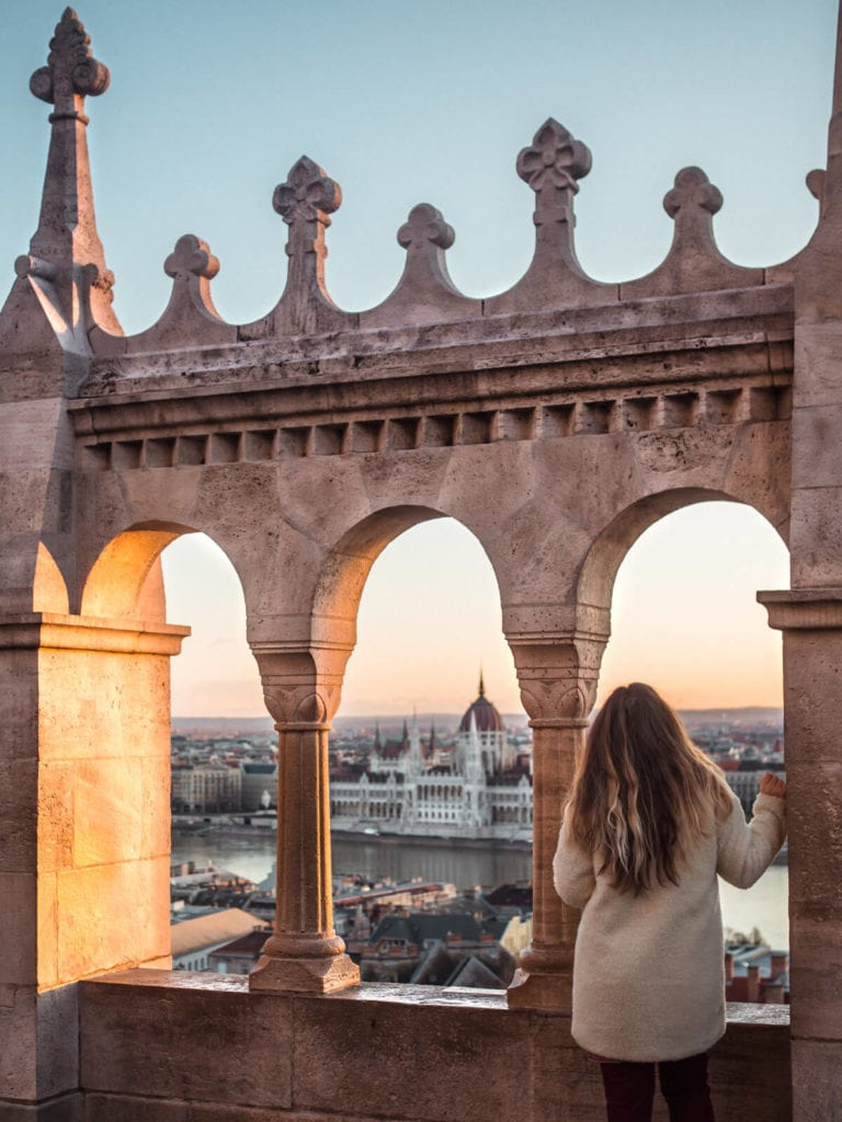 Budapest Instagram photo guide - Sunrise seen from Fisherman's Bastion