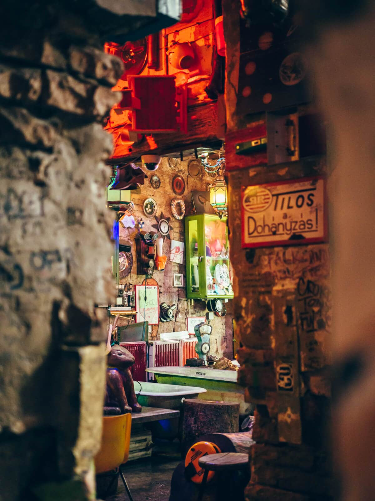 Budapest Instagram photo guide - Szimpla Kert the famous ruin bar