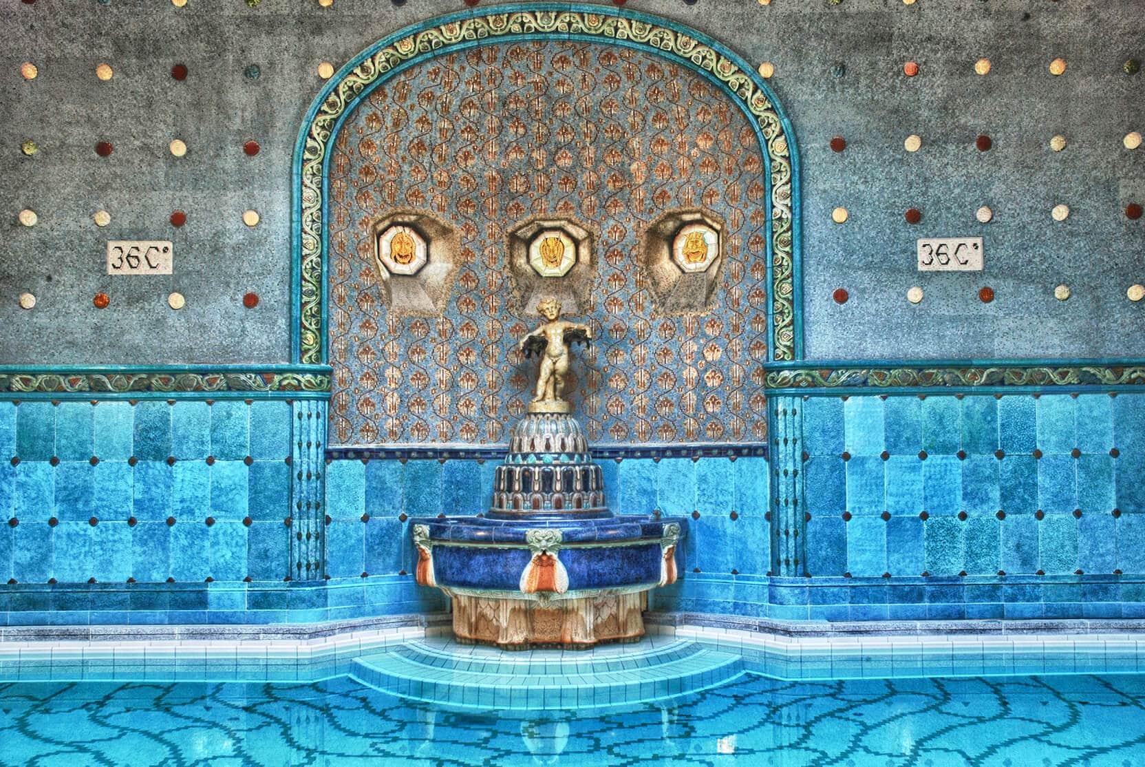 Budapest Instagram photo guide - Gellért Thermal Spa Baths