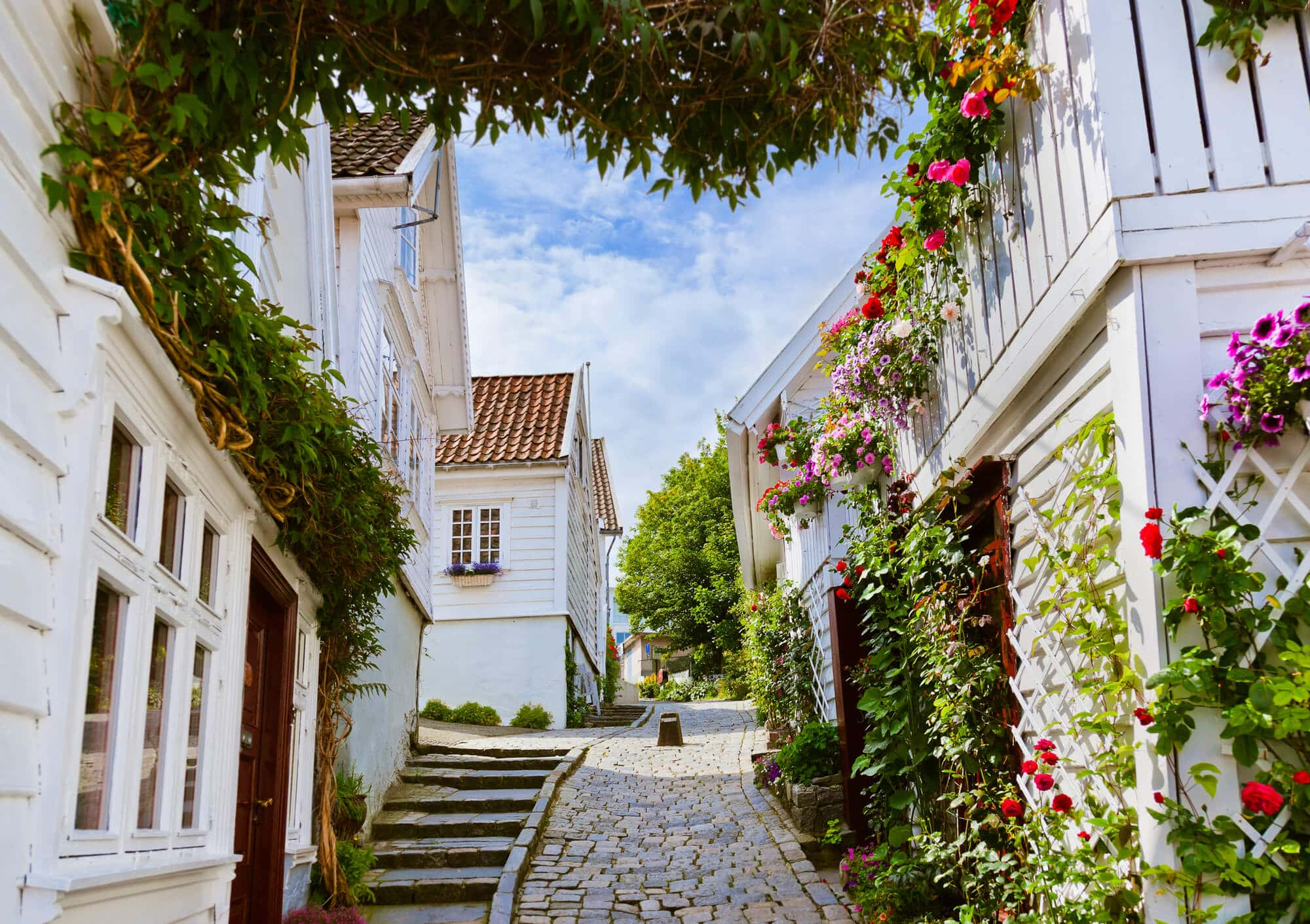 Best things to do in Norway summer - Go for a stroll among the old houses in Stavanger