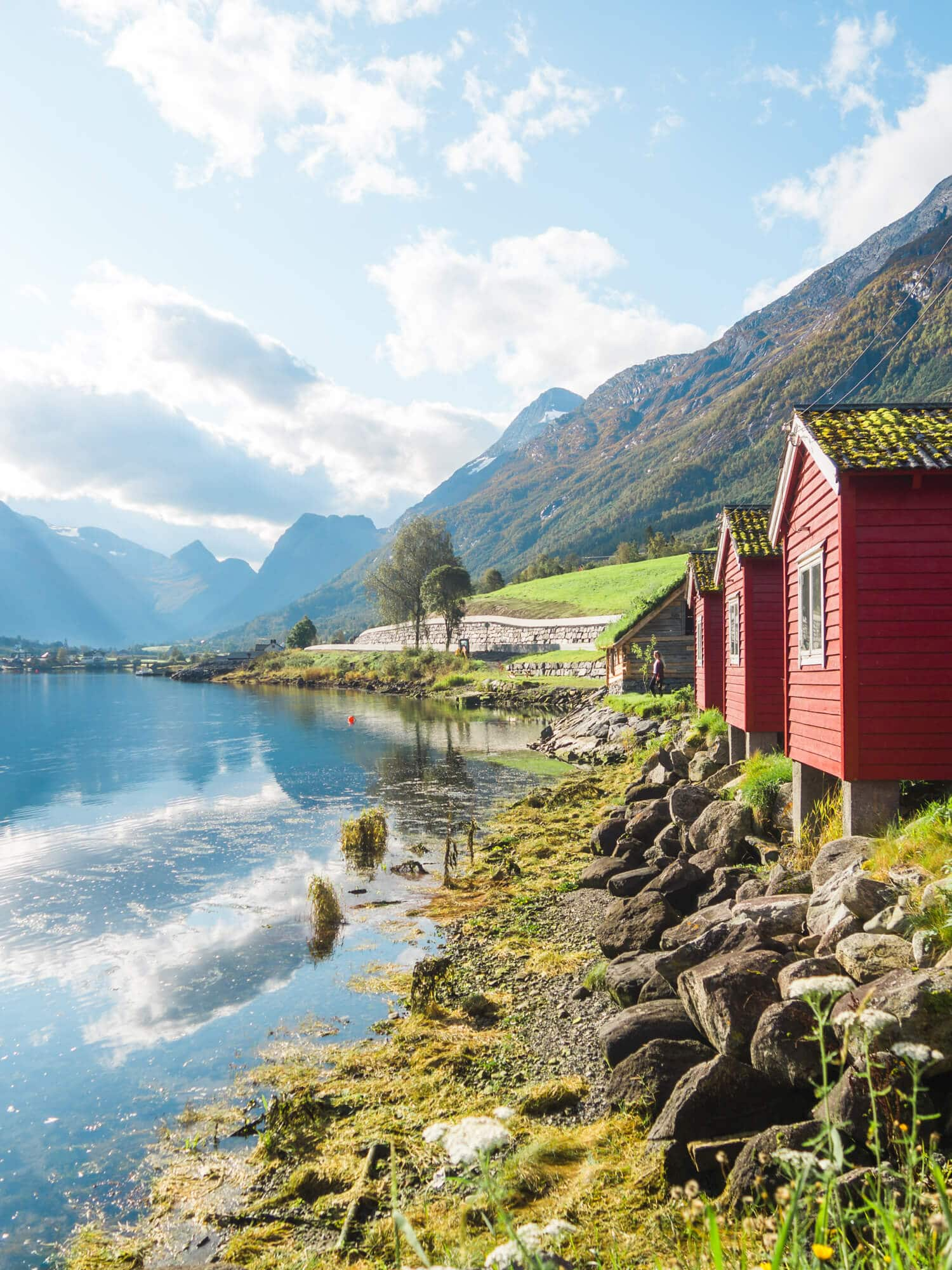 Top things to do in Norway - Olden camping close to the gorgeous Loen lake #bucketlist #norway #travelinspo
