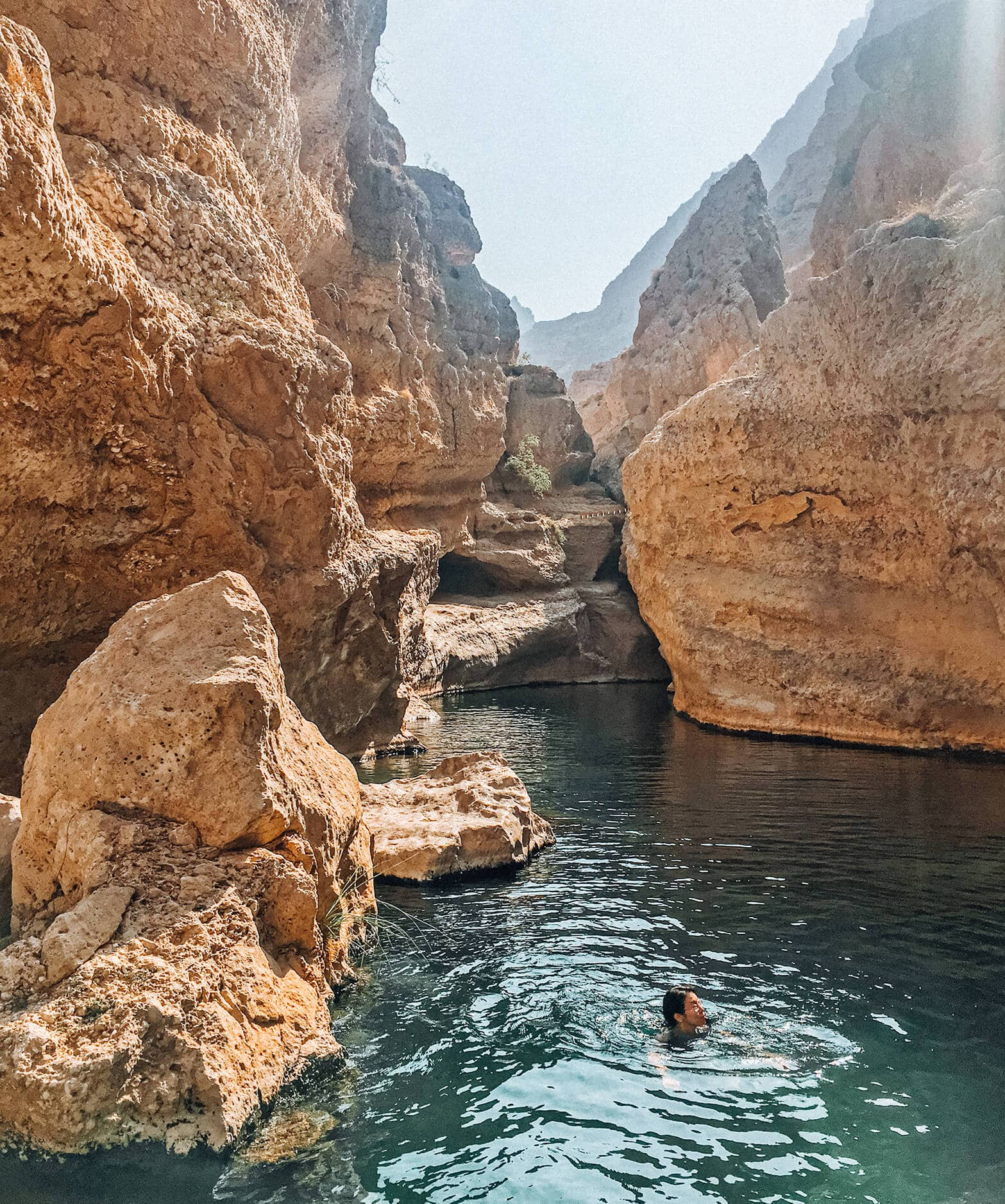 Travel bloggers reveal their favorite experiences in the world - Swimming in the wadis of Oman