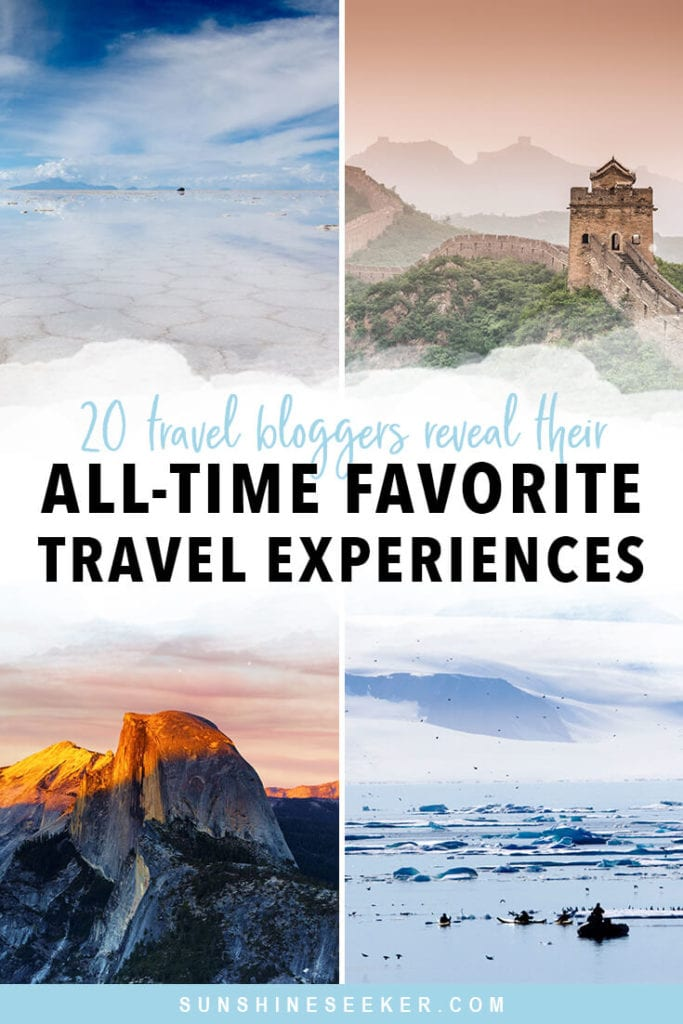 20 Travel bloggers reveal their favorite experiences in the world. From exploring lesser-known national parks to swimming in the wadis of Oman and hot air ballooning in Cappadocia. Click through for 20 awesome bucket list ideas #travelinspo #oman #bali #bucketlist #cappadocia