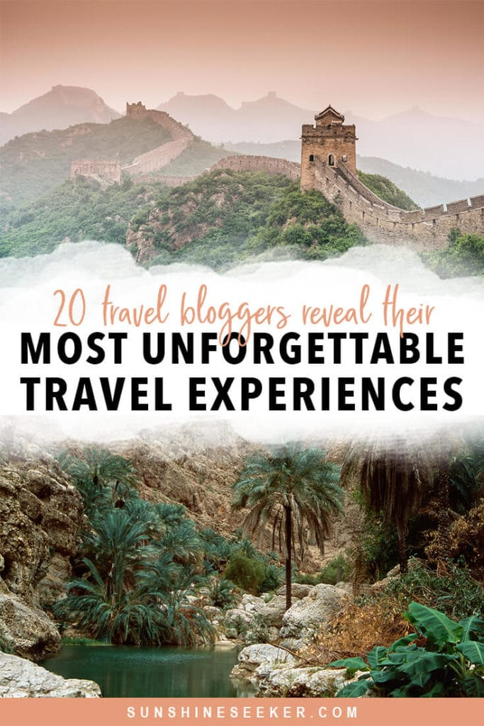 Travel bloggers reveal their favorite experiences in the world. From exploring lesser-known national parks to swimming in the wadis of Oman. Click through for 20 awesome bucket list ideas #travelinspo #oman #bali #bucketlist #cappadocia