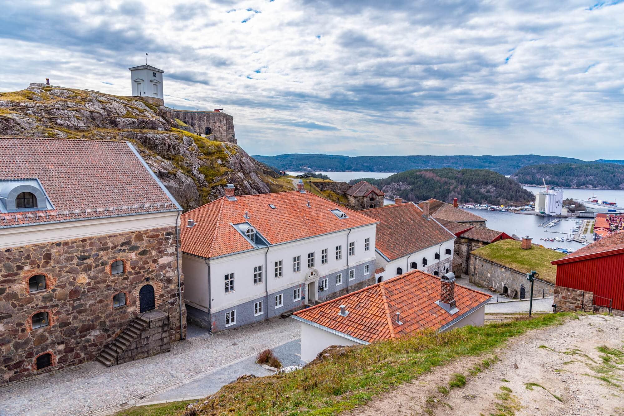 Inner courtyard of Fredriksten Fortress in Halden, Norway