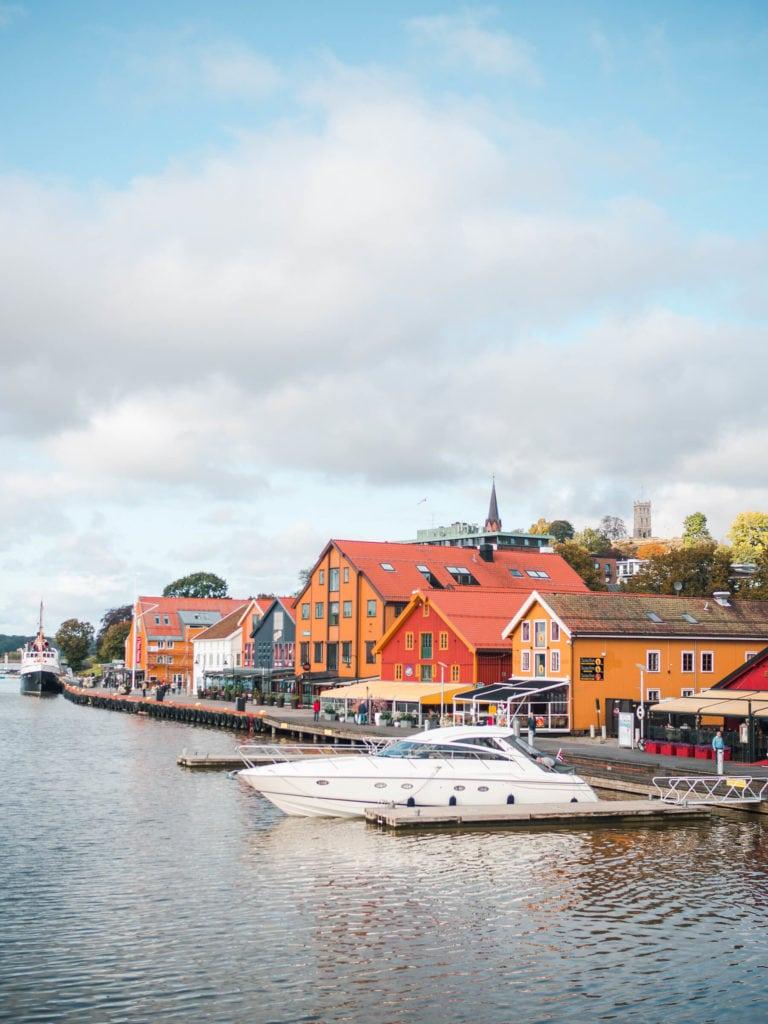 Tønsberg Harbor with Slottsfjellet (the castle mountain) in the background