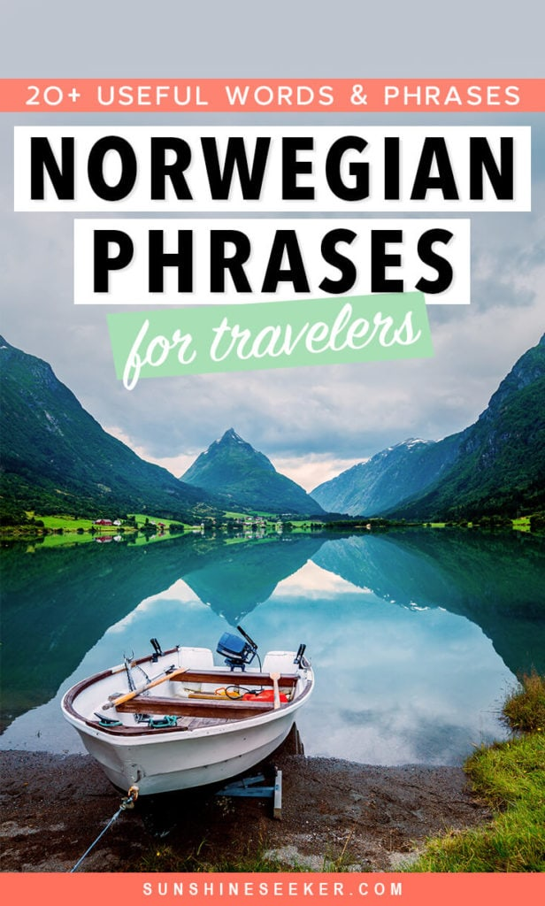 Learn a new language: 20+ useful words & phrases in Norwegian to know before you visit Norway.
