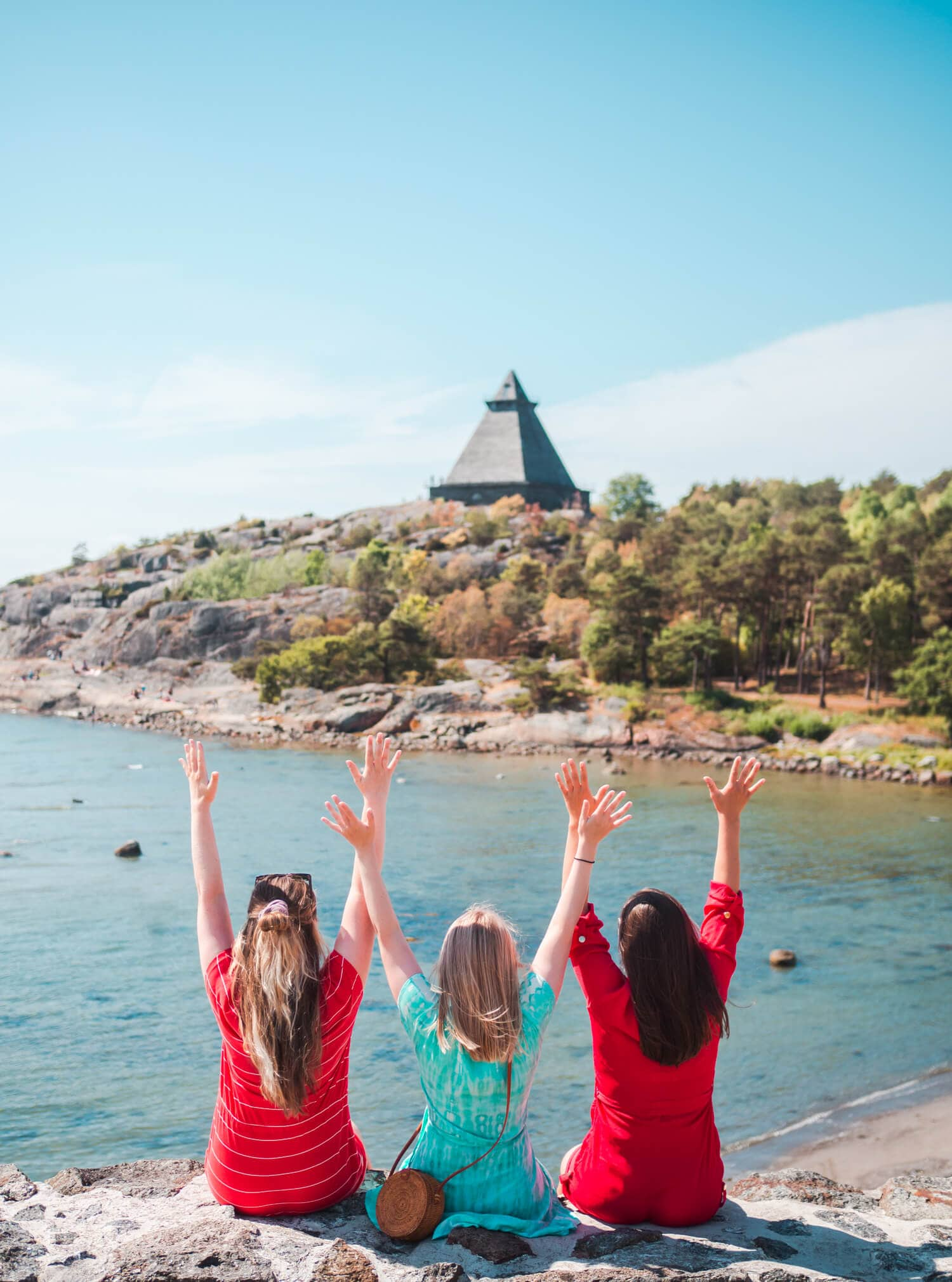 Feeling happy with my two sisters in one of Norway's most beautiful summer cities, Stavern