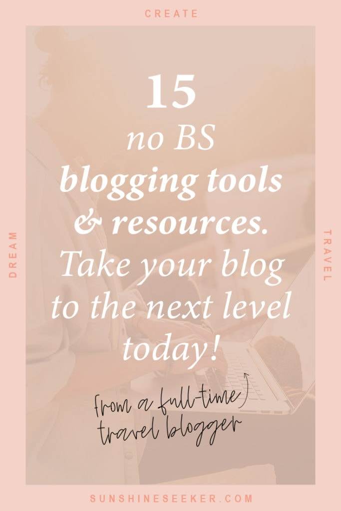 A no-BS guide to the blogging tools and resources you need to make blogging your full-time job. Don't waste money on unnecessary software and course you'll never finish!
