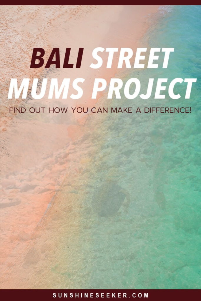 Calling all Bali lovers! Click through to learn about the dark side of Bali + how you can help make a difference. The Bali Street Mums Project is an incredible organization helping impoverished mothers and their children on the island we all love so much. There are so many suffering in Bali at the moment and they desperately need our help!