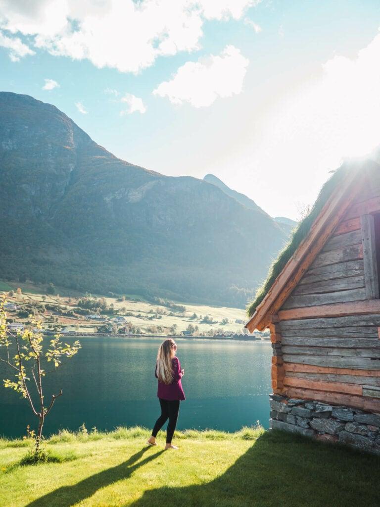 Norway Budget Breakdown - Nesset Fjordcamping in Olden close to Lovatnet