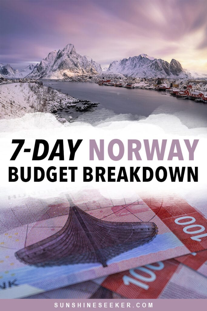 Are you wondering how much you should budget for one week in Norway? Click through to find out exactly how much I spent on accommodation, food, transport, shopping and activities in my 7-day Norway budget breakdown #norway #trondheim #oslo #lofoten #travelinspo #budget #travel