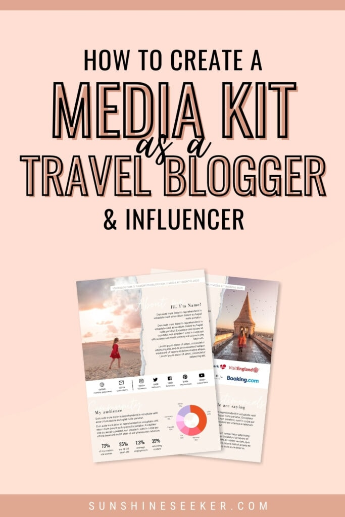 My top tips on creating a media kit as a travel blogger and Instagram influencer. What to include in a media kit + why you need a media kit
